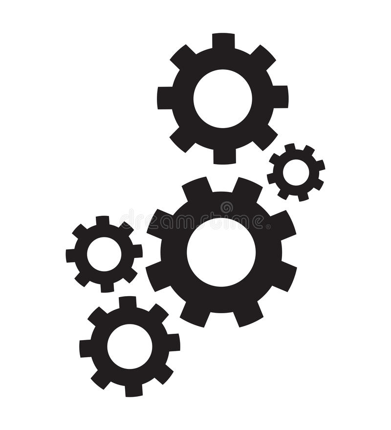 Set of cogs vector illustration