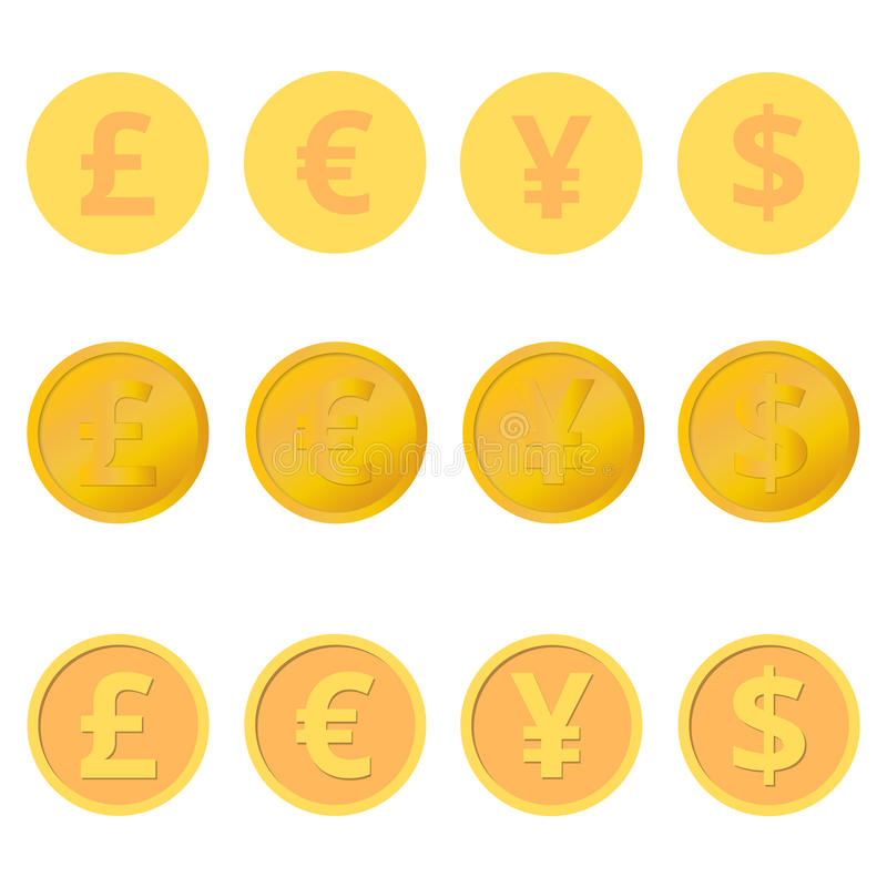 Set of coins royalty free illustration