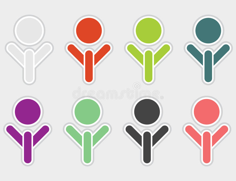 Set Of Color Abstract Symbols. Stock Photography