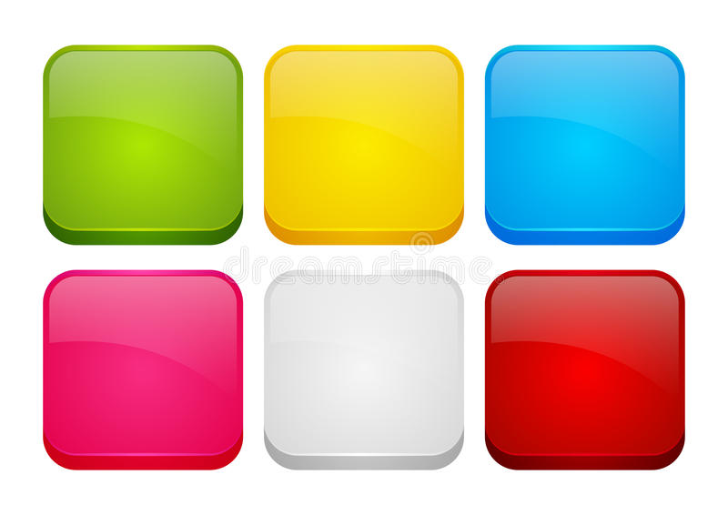 Set of color apps icons royalty free illustration