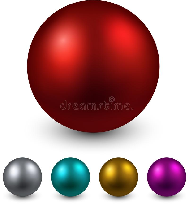 Set of color balls. Set of realistic shiny colorful balls. Vector illustration. r vector illustration