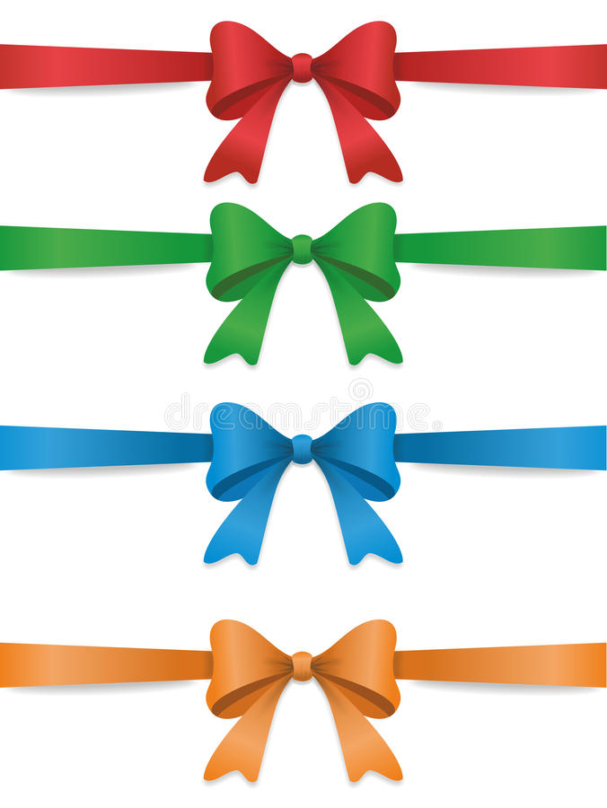 Download Set of color bows stock vector. Image of knot, collection - 27707895