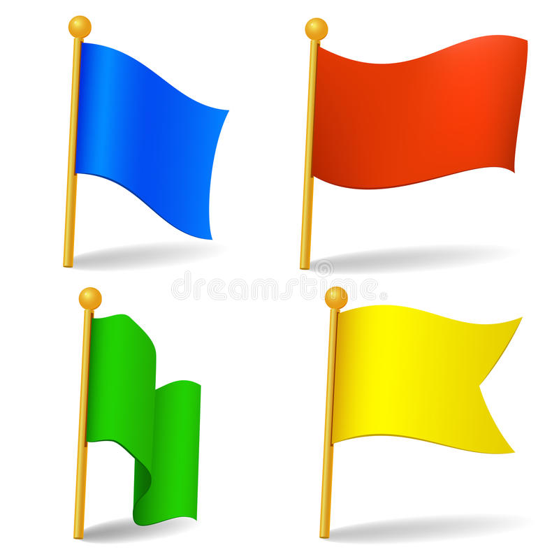 set of color cartoon flags stock vector illustration of white rh dreamstime com cartoon flags blue one cartoon flash images