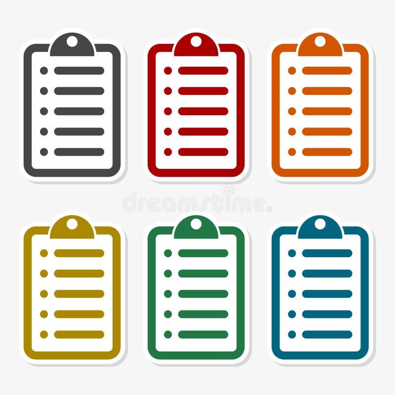 Set of color checklist. Vector icon vector illustration