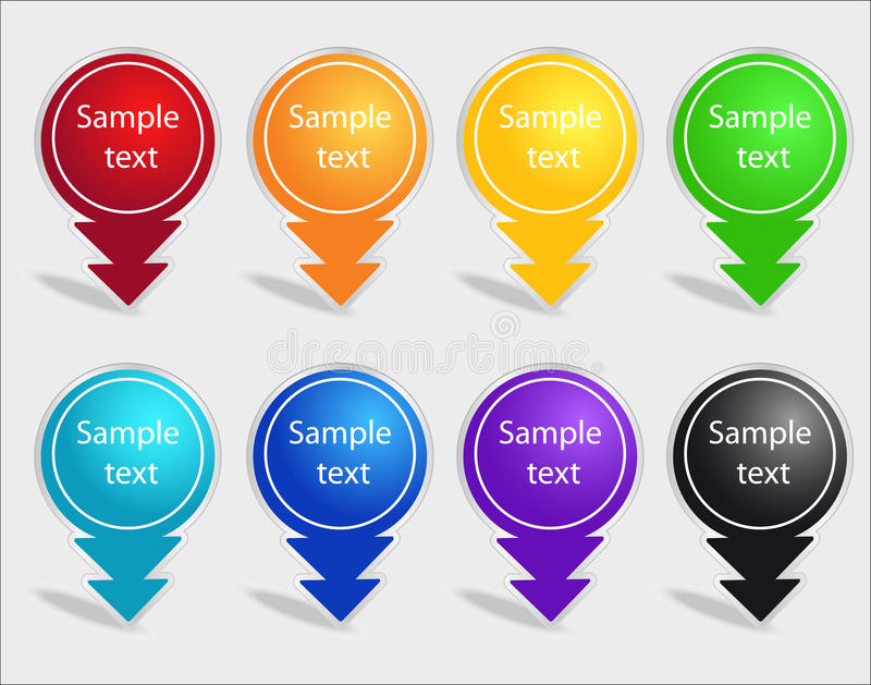 Download Set of color labels stock vector. Image of card, abstraction - 19542014