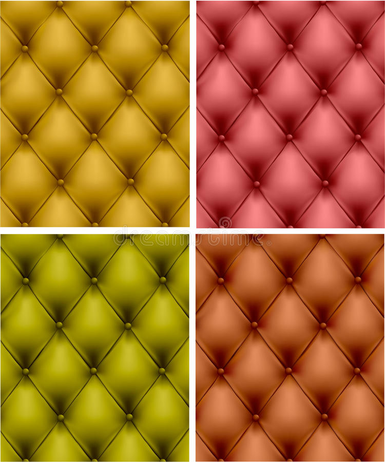 Download Set Of Color Leather Upholstery. Stock Vector - Image: 17432705
