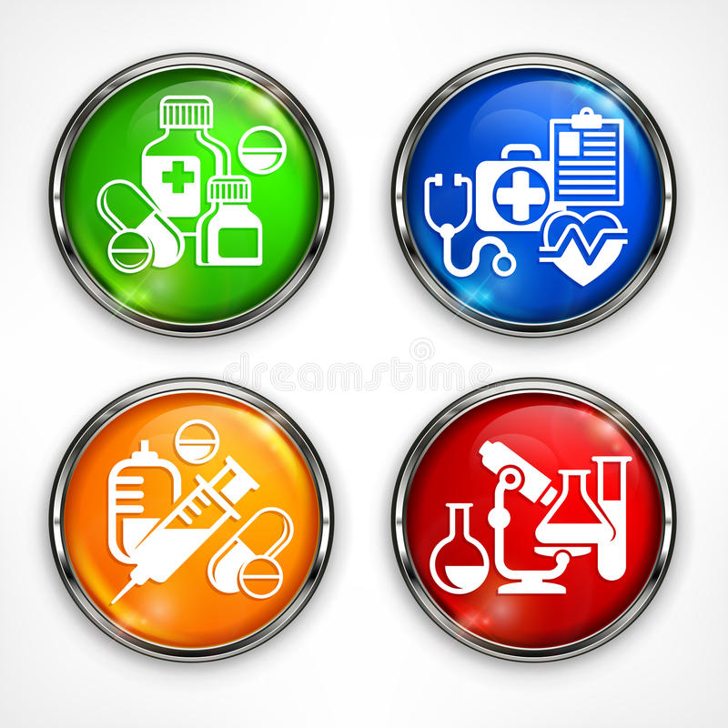 Download Set Of Color Medicine Circle Icons Stock Vector - Illustration of cross, glass: 83700789