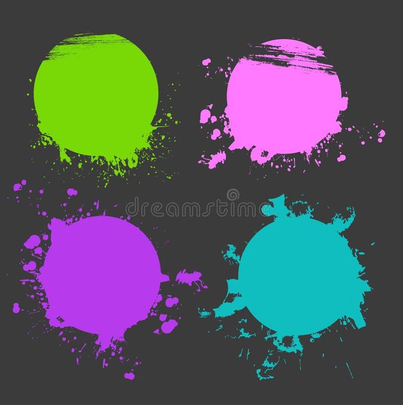 Set Of Color Splash Stock Images