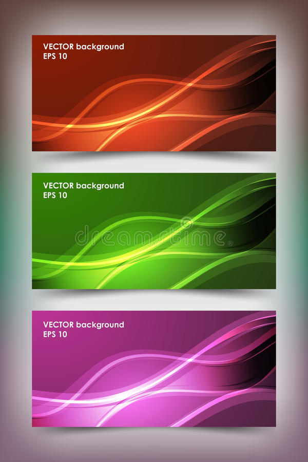 Set of colored banner templates. royalty free stock images