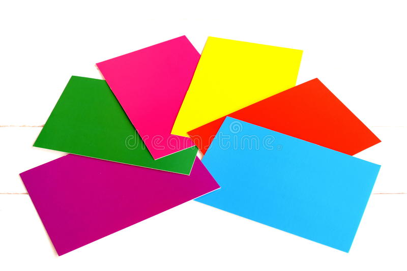 A Set Of Colored Cardboard On White Background. Red, Yellow, Green ...