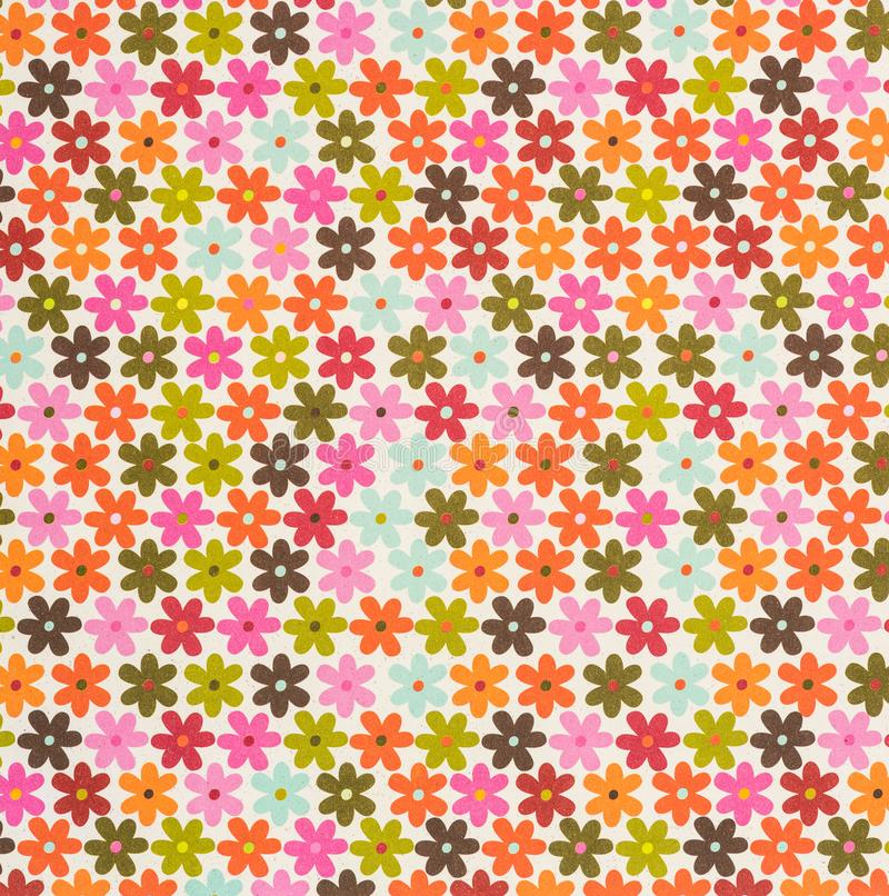 set of colored drawing flowers stock images