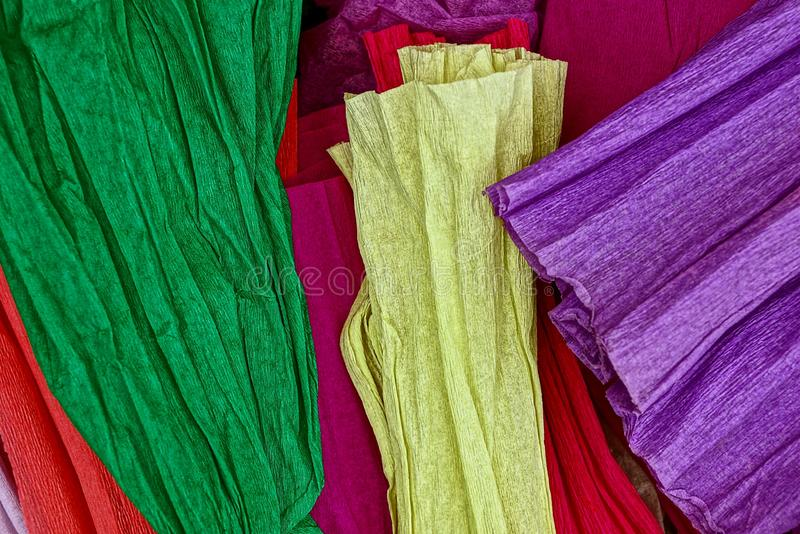 Set of colored paper on white background royalty free stock images