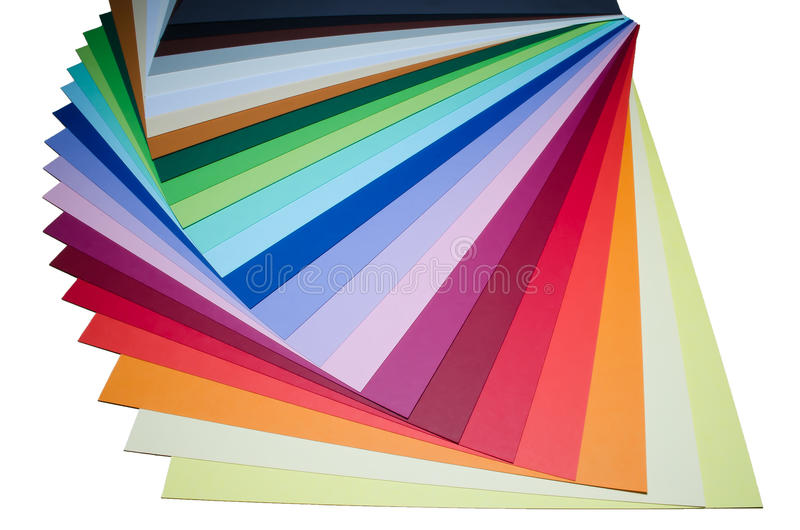Set of colored papers. Paper in various colors. Multicolored sheets paper stock image