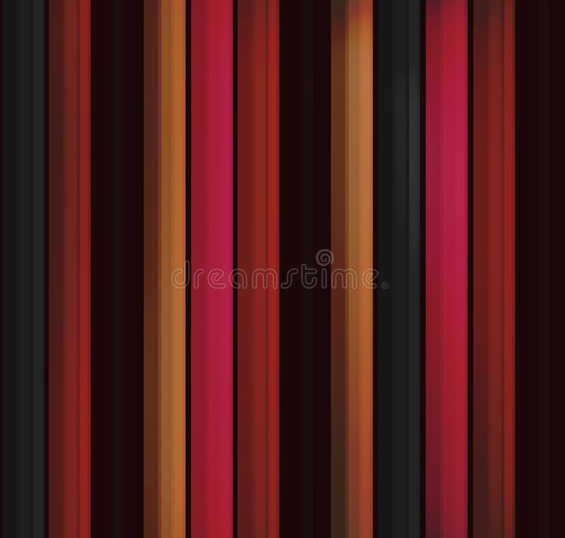 Set of colored pencils. modern background for the template in the style of realism. horizontal lines, 3d strips. school subjects,. Horizontal lines, stripes from royalty free illustration