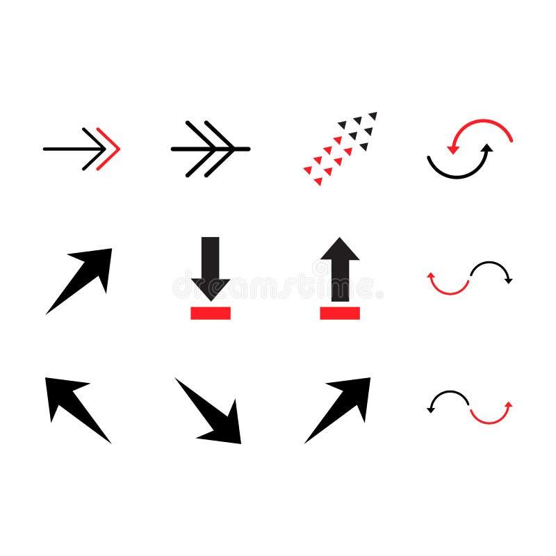 Set colored vector arrows elements. Design illustration. Color vector arrow. Arrows vector collection royalty free illustration