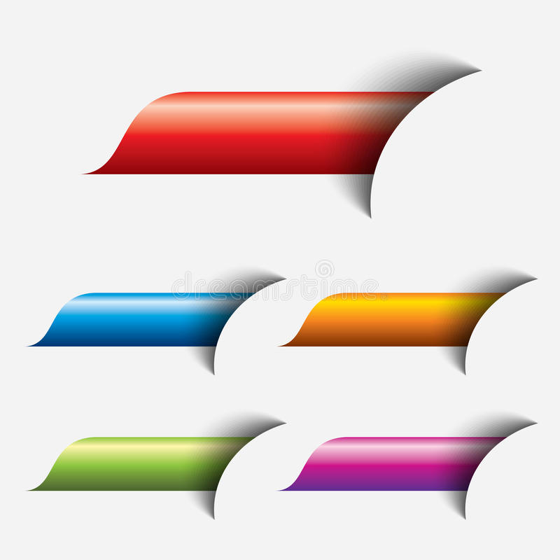 Set of colored web button royalty free illustration