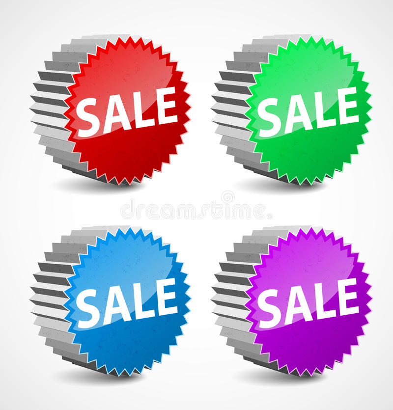 Download Set Of Colorful 3d Vector Sale Labels. Stock Vector - Image: 24125184