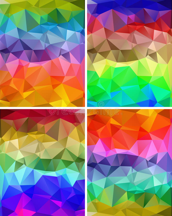 A set of polygonal backgrounds royalty free illustration