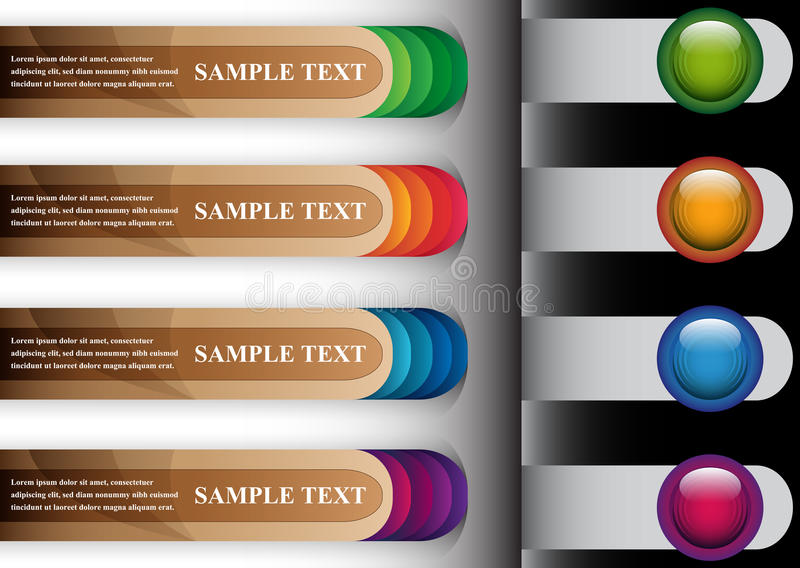 Set Of Colorful Abstract Banners Royalty Free Stock Photos