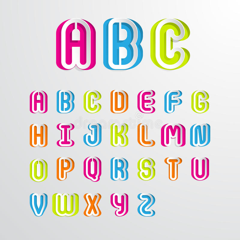 Download Set Of Colorful Alphabet Capital Letters A To Z Stock Vector