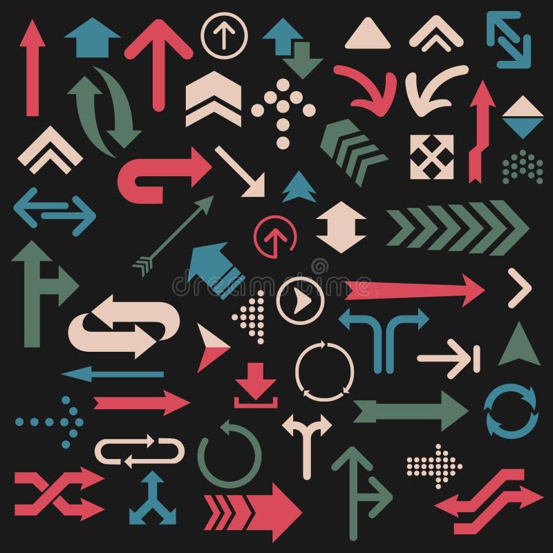 Set of colorful arrows vector illustration stock illustration