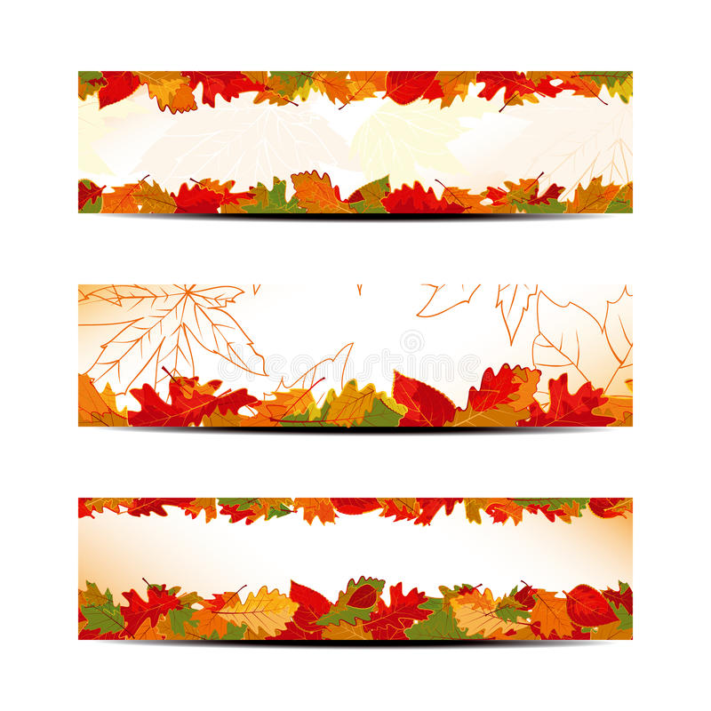 Download Set Of Colorful Autumn Leaves Banner Royalty Free Stock Images - Image: 26903349