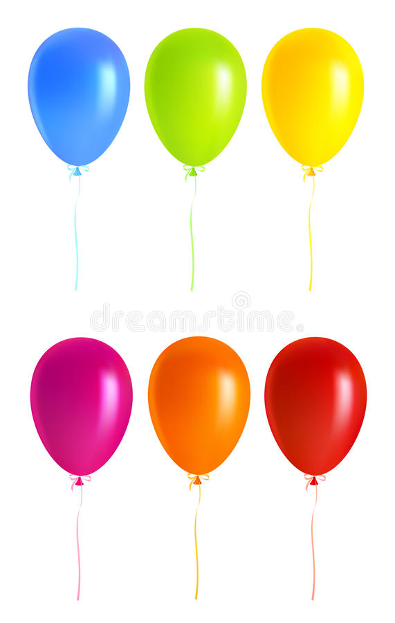 Set Colorful balloons vector illustration