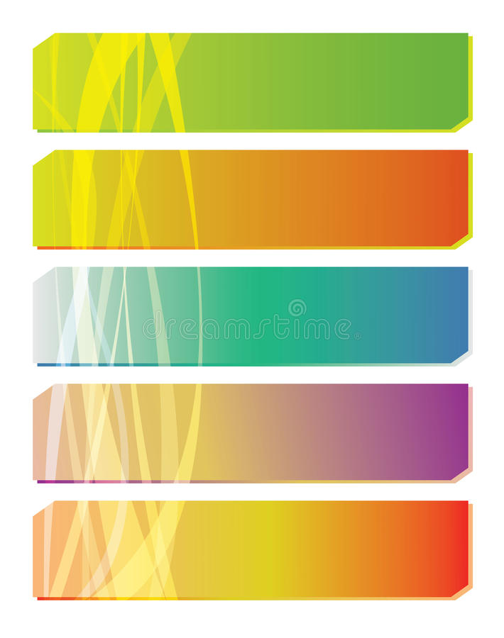 Set of colorful banners royalty free illustration