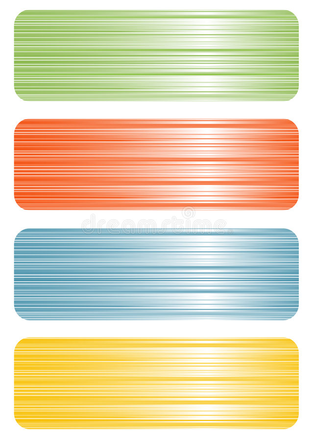 Set of colorful banners stock images
