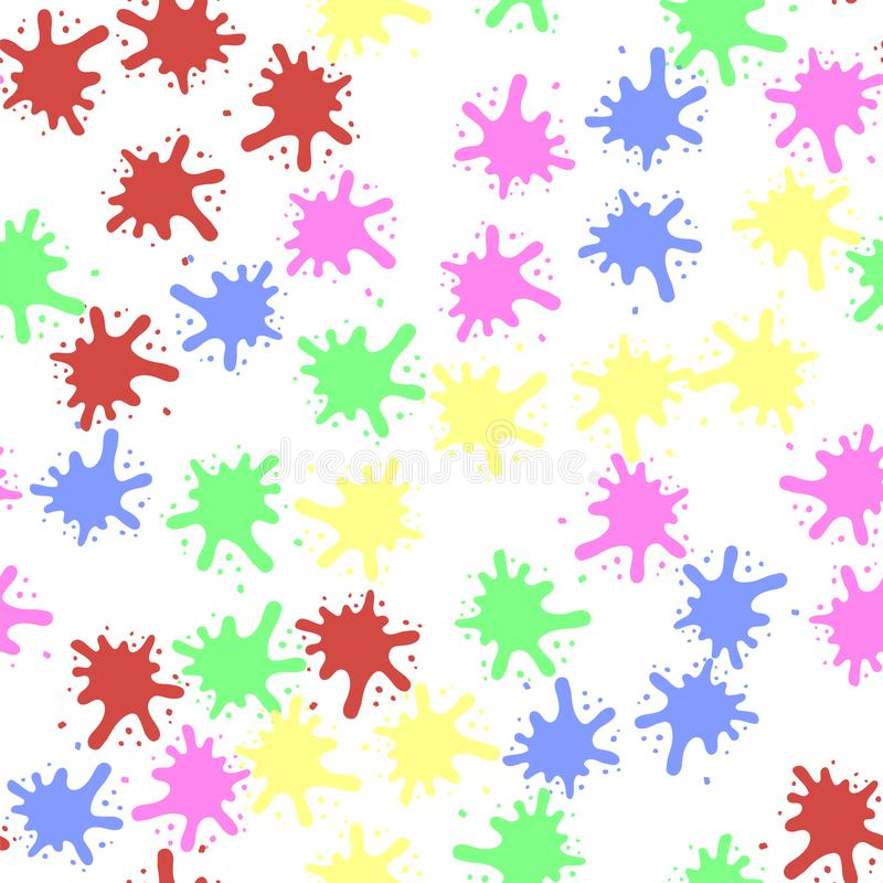 Set of Colorful Blobs. Colorful Blobs Seamless Pattern Isolated on White Background stock illustration