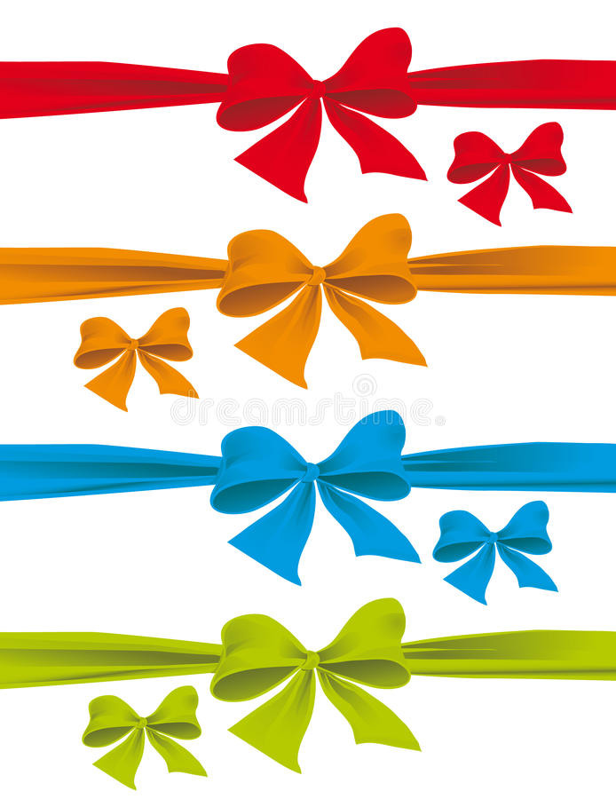 Download A set of colorful bows stock vector. Image of holiday - 12279329
