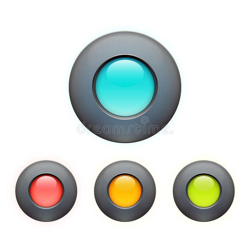 Set of colorful buttons stock illustration