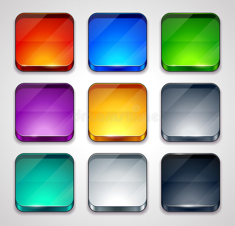 Set of colorful buttons royalty free illustration