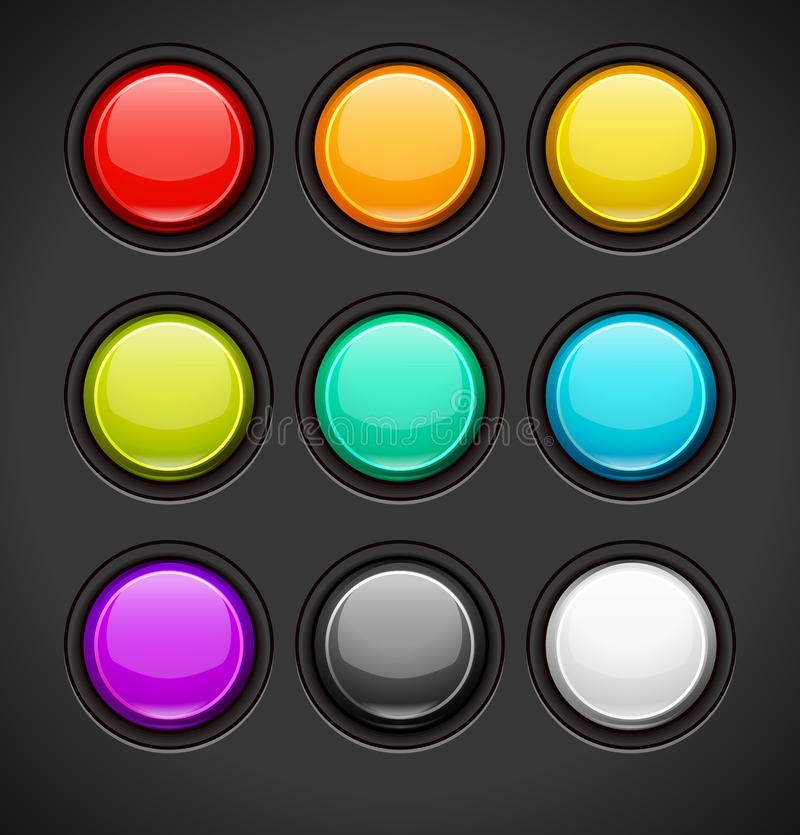 Set of Colorful Buttons vector illustration