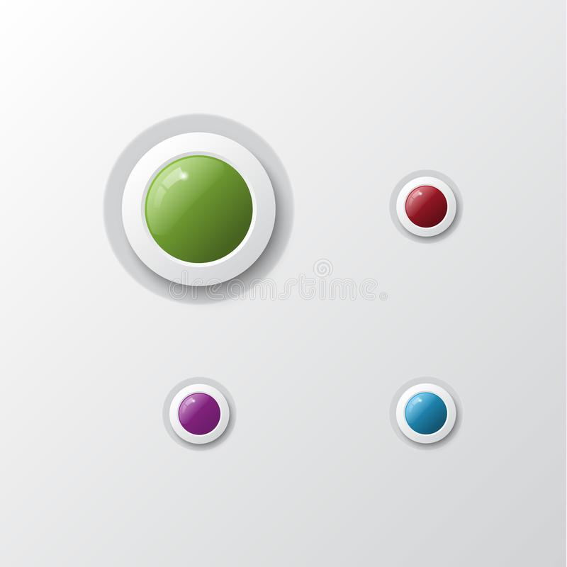 Set of colorful buttons. Vector illustration. vector illustration