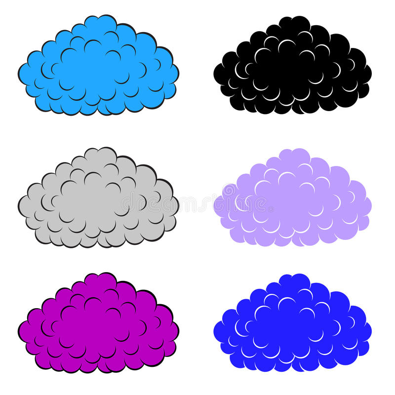 Download Set of  colorful clouds stock vector. Image of cloudscape - 26495629