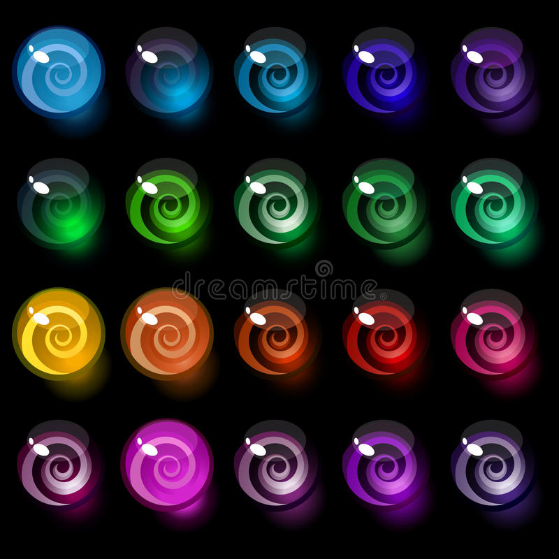 Set of colorful decorative candy elements. royalty free illustration