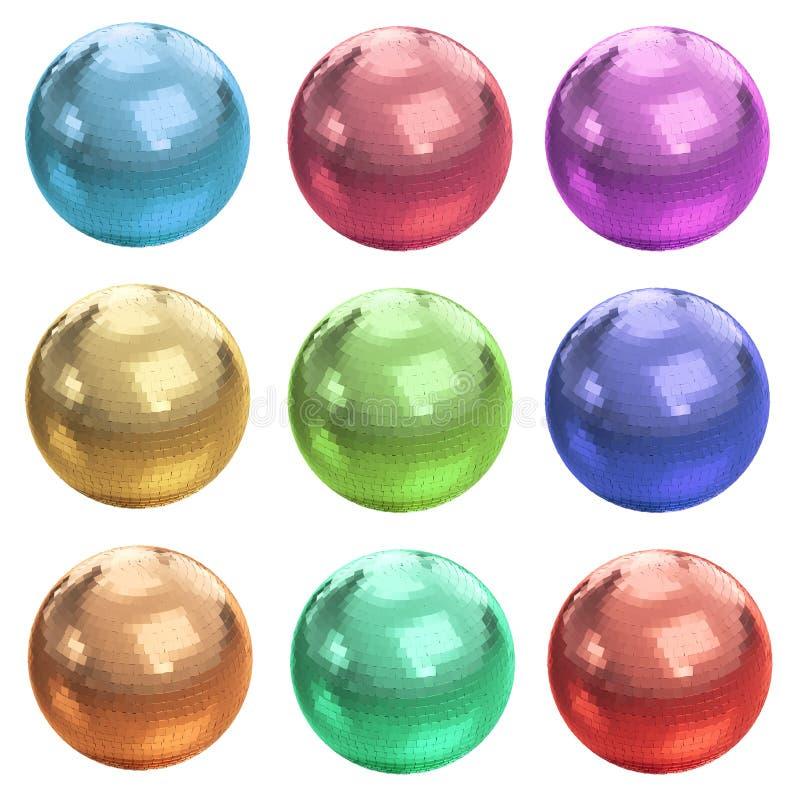 Download Set Of Colorful Disco Balls Stock Illustration - Illustration: 32616263