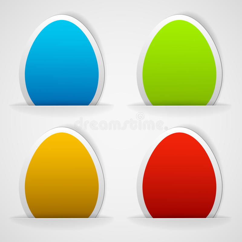 Download Set Of Colorful Easter Eggs Stickers Stock Vector - Illustration: 23573992
