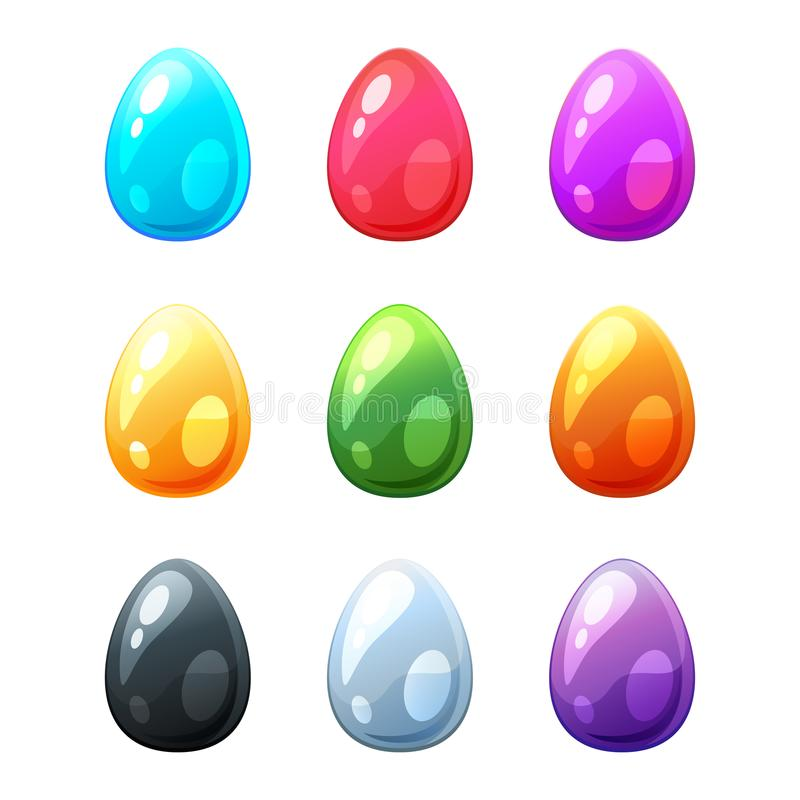 Set of colorful eggs stock illustration