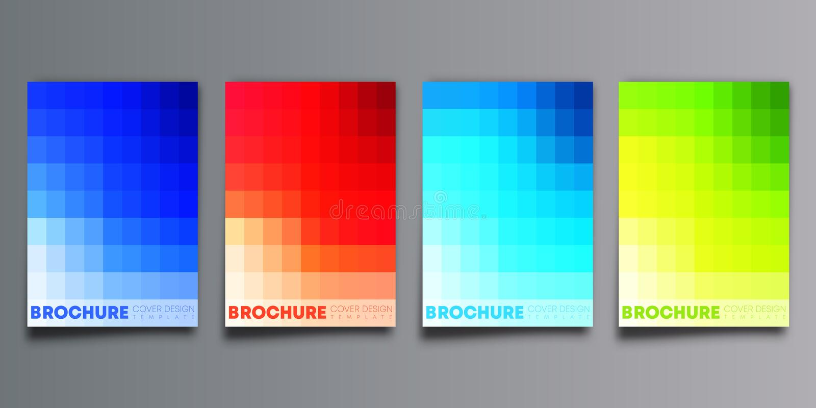 Set of colorful gradient cover template design for flyer, poster, brochure, typography or other printing products vector illustration