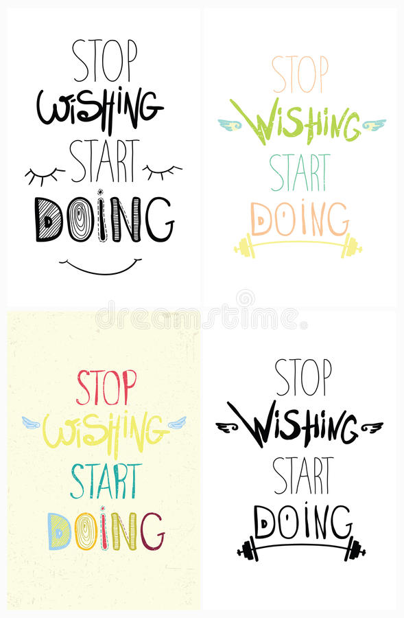 Download Set Of Colorful Hand Driving Grunge Inspirational Poster, Quote  For Home And Office.