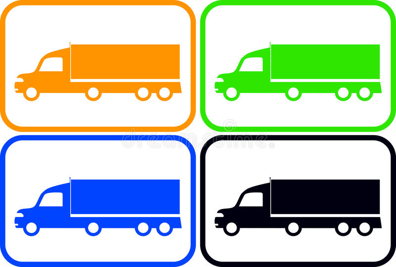 Download Set Colorful Heavy Trucks Stock Photography - Image: 32623142