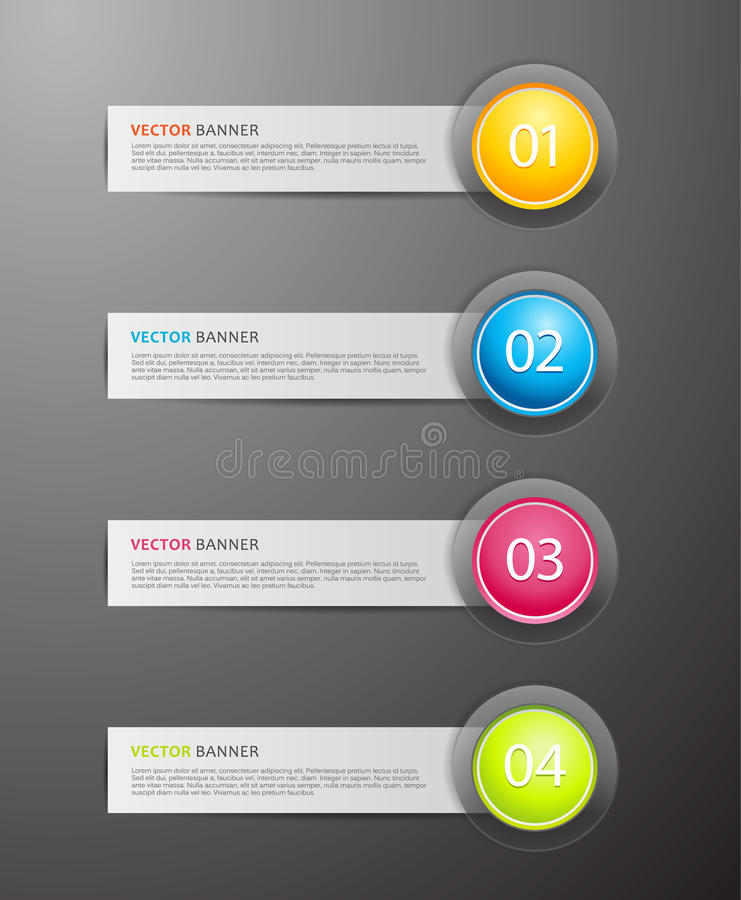 Download Set of colorful labels. stock vector. Illustration of page - 25928296