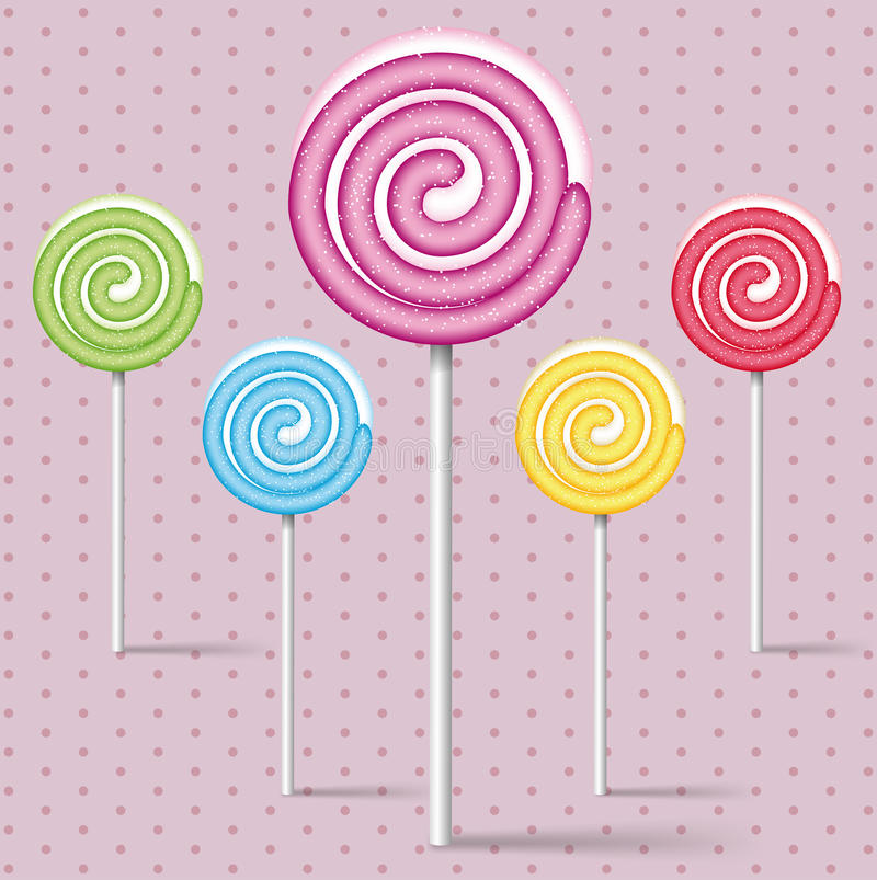 Download Set of colorful lollipops stock vector. Image of tasty - 27673590