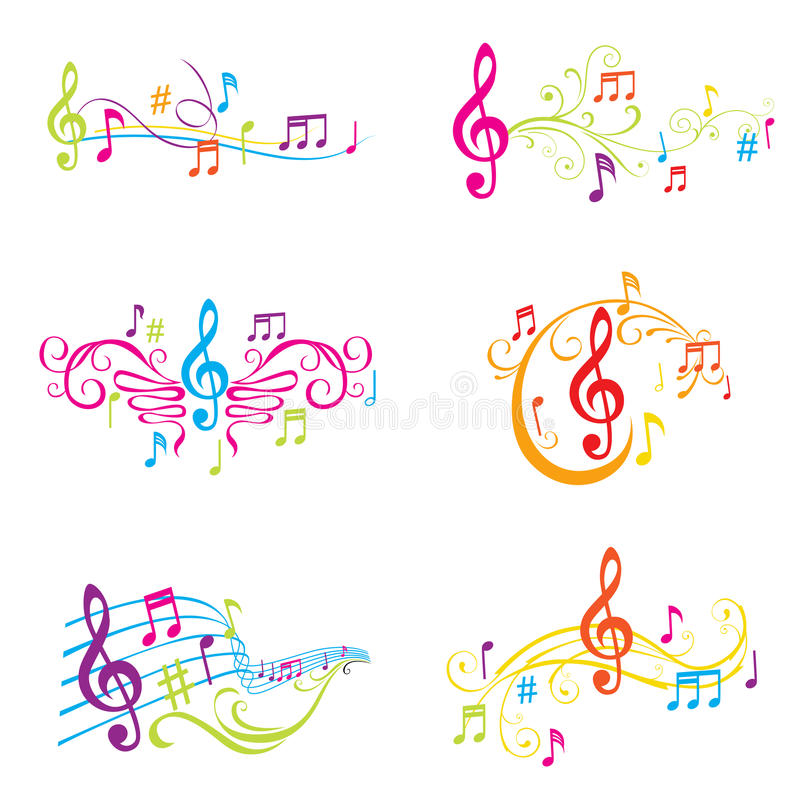 Download Set Of Colorful Musical Notes Illustration Stock Vector - Image: 27262625