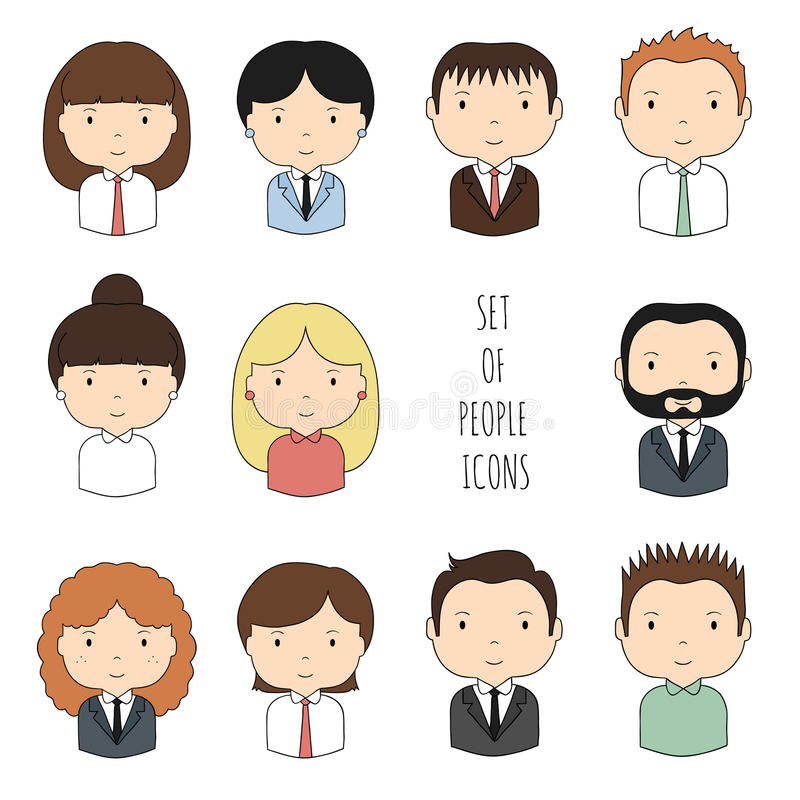 Set Of Colorful Office People Icons. Businessman Stock ...