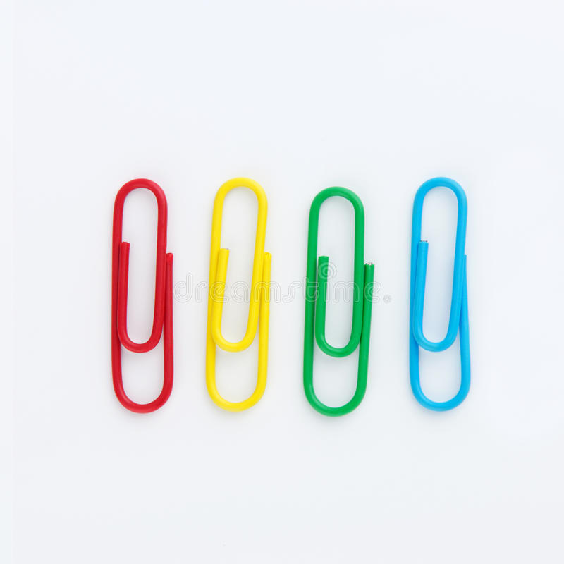 Set of Colorful paperclip royalty free stock image