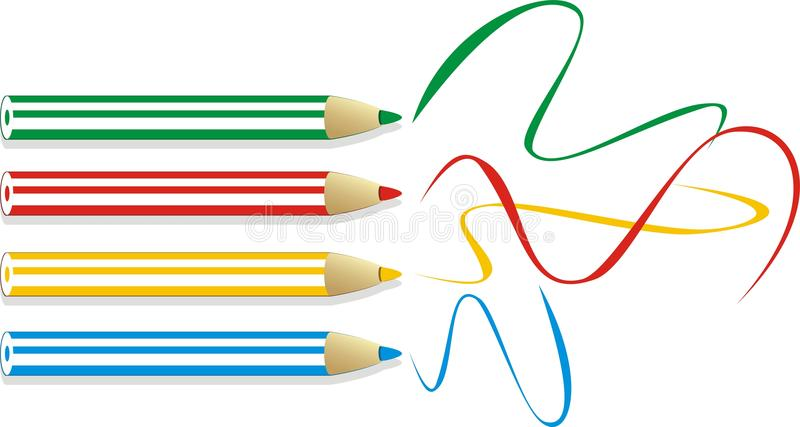 Set of colorful pencils royalty free stock images