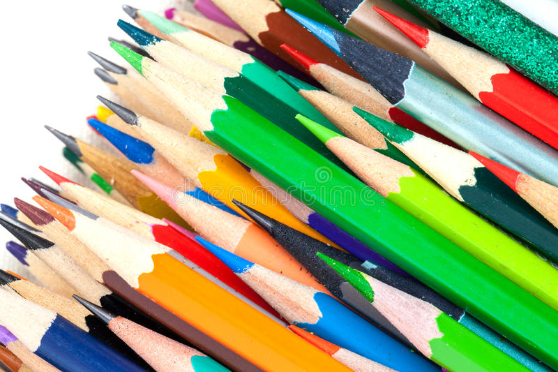 Set of colorful pencils stock image